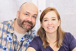 Shannon Hale - Shannon Hale and her husband Dean at the 2016 Texas Book Festival.