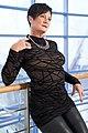 Shapewear bodysuit underneath transparent shirt - Modelled by Lady Alexi.jpg