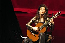 Sharon Isbin Playing Guitar (Wikipedia Image)