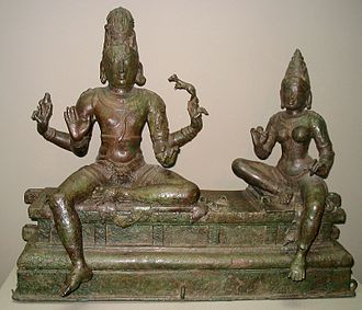 14th century - This 14th-century statue from Tamil Nadu, present day India depicts the gods Shiva (on the left) and Uma (on the right). It is housed in the Smithsonian Institution in Washington, D.C..