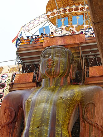 Gommateshwara statue - Mahamastakabhisheka at Shravanabelagola