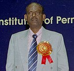 Shri R. Velu at the inauguration of a National Technical Seminar on Mechanization of Track Maintenance, Relaying and Construction on Indian Railways in New Delhi on January 20, 2005 (cropped).jpg