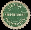 Siegelmarke Gemeinde Hausneindorf Kr. Aschersleben W0383826.jpg