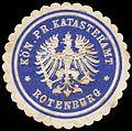 Siegelmarke Königlich Preussisches Katasteramt - Rotenburg W0262746.jpg