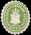 Siegelmarke Königlich Sächsisches Standesamt Ostritz - Amtshauptmannschaft Zittau W0254058.jpg