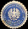 Siegelmarke Königliche Eisenbahn - Betriebs - Amt - Münster - Wanne - Bremen W0221158.jpg