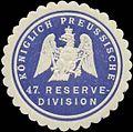 Siegelmarke K.Pr. 47. Reserve-Division W0346873.jpg
