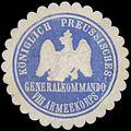 Siegelmarke K.Pr. Generalkommando VIII. Armeekorps W0363031.jpg
