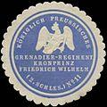 Siegelmarke K.Pr. Grenadier-Regiment Kronprinz Friedrich Wilhelm (2. Schles. No. 11) W0383321.jpg
