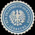 Siegelmarke K.Pr. Landrath des Kreises Lübbecke W0387610.jpg