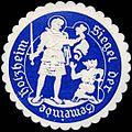 Siegelmarke Siegel der Gemeinde Holzheim W0226288.jpg