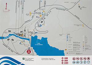 Mundaring Weir - Mundaring Weir information sign