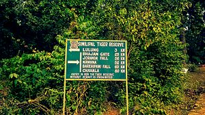 Simlipal National Park - Signboard inside Park