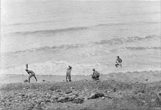 Sikhism in Australia - Sikh troops washing their clothes in the surf at Anzac Cove, Gallipoli Peninsula
