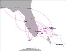 Silver Airways Route Map Silver Airways   Wikipedia