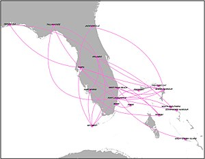 Silver Airways - Silver Airways route map
