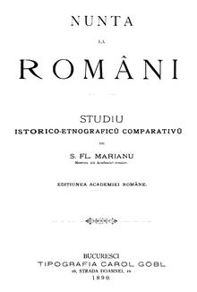 Simion Florea Marian - Nunta la romani, 1890.png