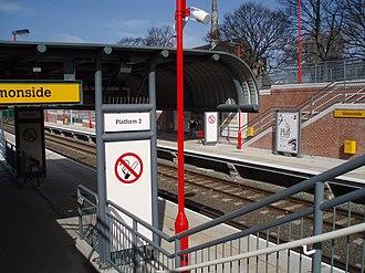Simonside Metro station - Image: Simonside Metro station