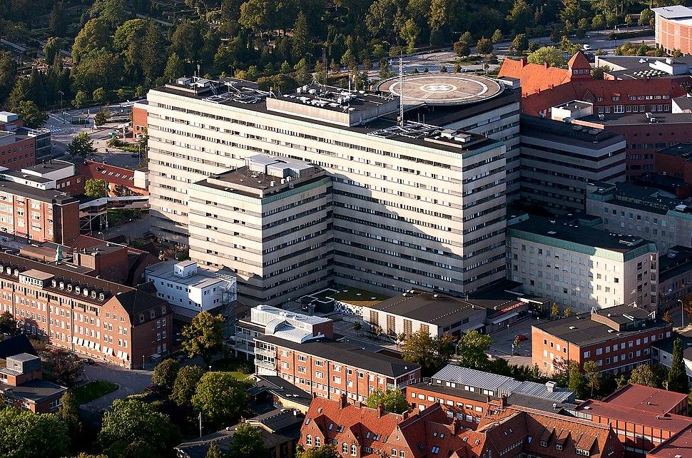 Skånes universitetssjukhus i Lund–flygbild 06 september 2014