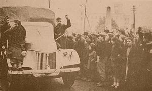 Bulgarian People's Army - The BNA entering Skopje on November 14, 1944