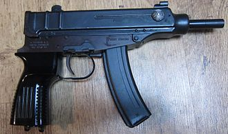Škorpion - A civilian variant. It is semi-automatic only and lacks a stock.