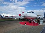 Sleepyhead Manufacturing (N146EX) Dassault Falcon 900EX on display at the 2015 Australian International Airshow 2.jpg