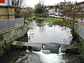 Small weir on the river Dour - geograph.org.uk - 355192.jpg