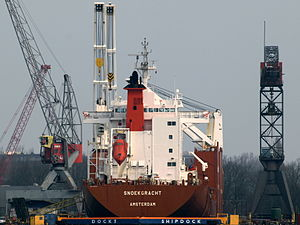Snoekgracht - IMO 9202546 - Callsign PCHF in dry-dock at Amsterdam.JPG