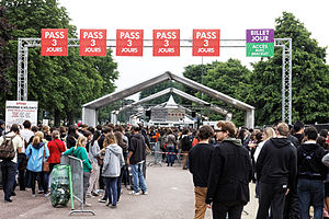 Solidays - Entrance gate to the 2013 festival.