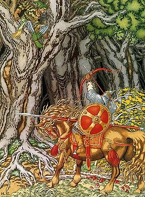 Nightingale the Robber - Ilya Muromets and Nightingale the Robber, by Ivan Bilibin.