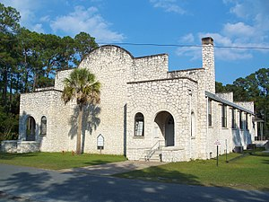 National Register of Historic Places listings in Wakulla County, Florida - Image: Sopchoppy FL gym 01