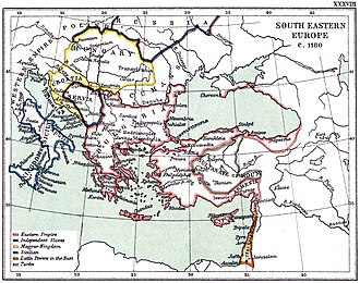 Battle of Myriokephalon - A map of the Byzantine Empire showing the location of Myriokephalon.