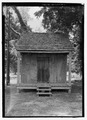 South (front) elevation, with scale - Badin-Roque House, Kitchen, State Highway 484, Natchez, Natchitoches Parish, LA HABS LA-1294-A-1.tif