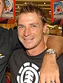 South African cricketers - Paul Harris and Dale Steyn (Steyn cropped).jpg