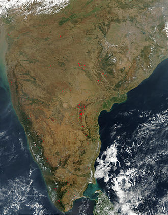 South India - Satellite image of South India