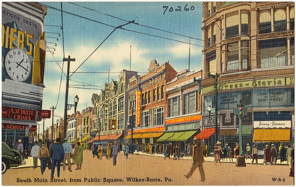 South Main Street, from Public Square, Wilkes-Barre, Pa (70260)