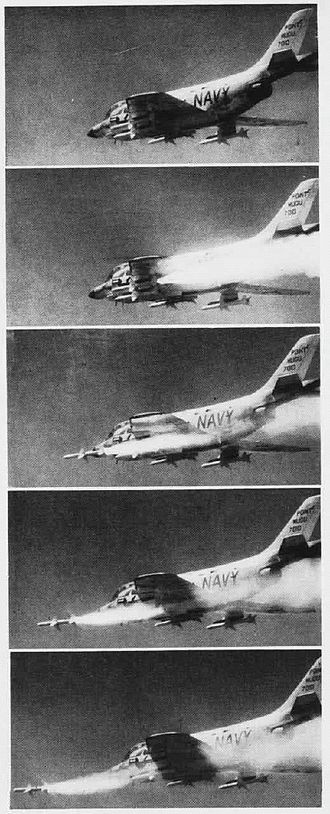 AIM-7 Sparrow - F3H Demon launching a Sparrow III in 1958