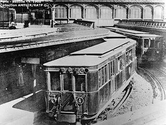 Bastille (Paris Métro) - Image: Sprague Bastille 1908