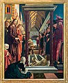St. Wolfgang kath. Pfarrkirche Pacher-Altar Lazarus 01.jpg