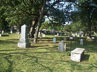 Huguenot Cemetery - The cemetery in 2011