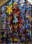 St Maurice Stained glass window, Officer Cadet's Mess, Royal Military College St-Jean, St-Jean sur Richelieu, Quebec