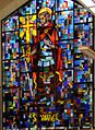 St Maurice Stained glass window, Officer Cadet's Mess, Royal Military College St-Jean, St-Jean sur Richelieu, Quebec.jpg
