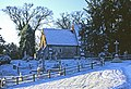 St Nicholas, Pyrford, in snow - geograph.org.uk - 1099439.jpg