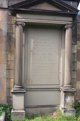 Stair Agnew - Stair Agnew's grave, Dean Cemetery