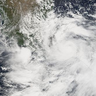 Hurricane Stan - Hurricane Stan making landfall in Veracruz