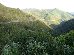 Rimutaka Range - State Highway 2 (Rimutaka Hill Road) near the top of the range
