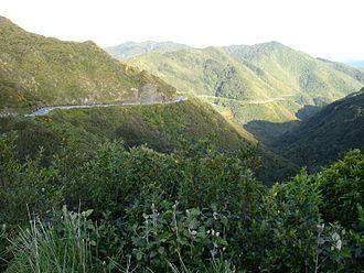 Remutaka Range - State Highway 2 (Rimutaka Hill Road) near the top of the range