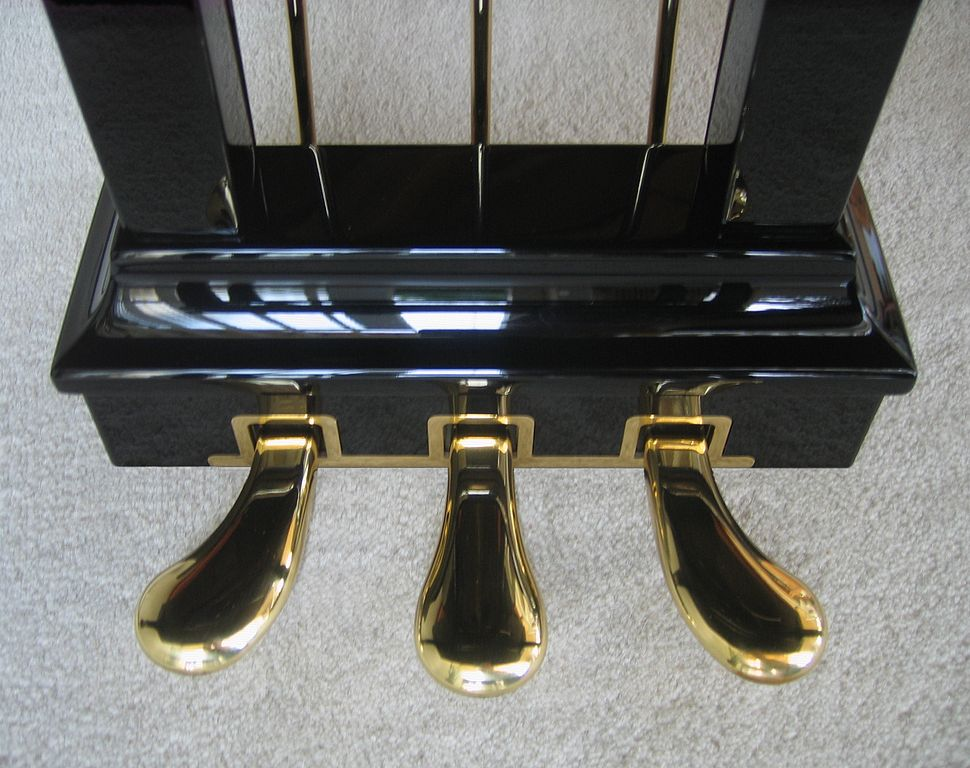 Steinway grand piano - pedals
