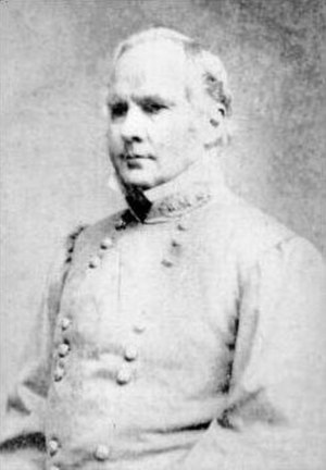 Battle of Glasgow, Missouri - Maj. Gen. Sterling Price, commander of the Confederate forces engaged in Price's Missouri Expedition.