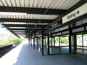 Vårby gård metro station - Image: Stockholm subway vårby gård 20060913 001